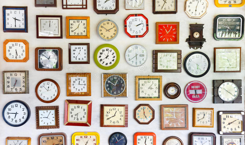 Wall of time stock photo