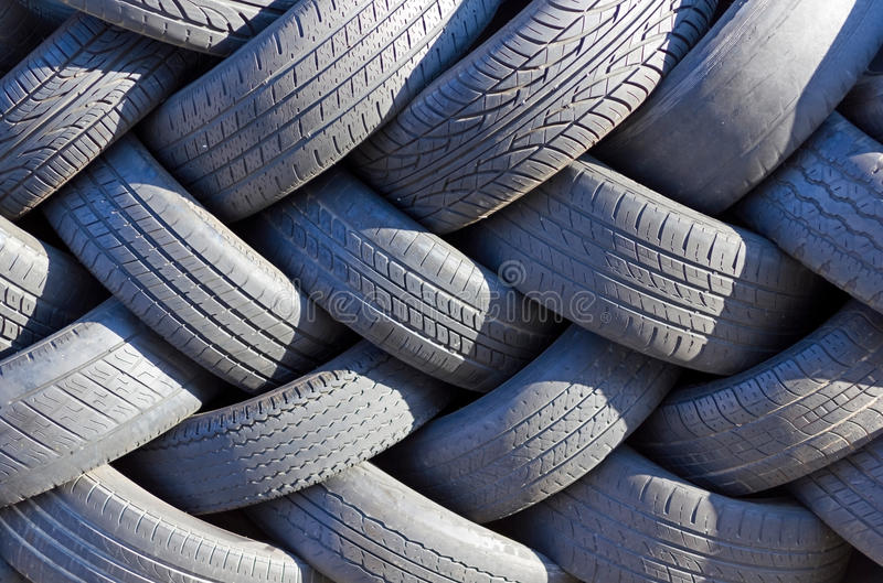 Wall of tires. royalty free stock photography