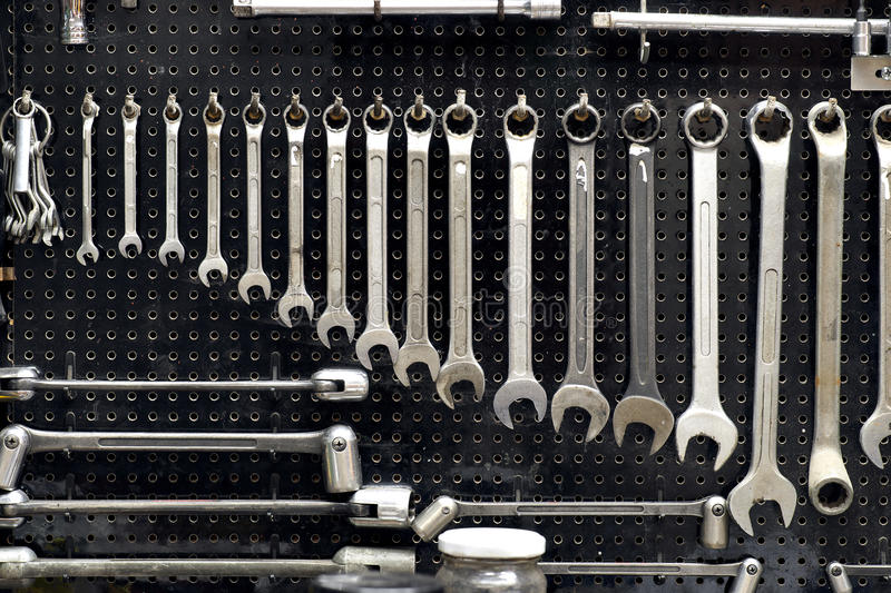 Download Wall with tools stock image. Image of work, organised - 25971183