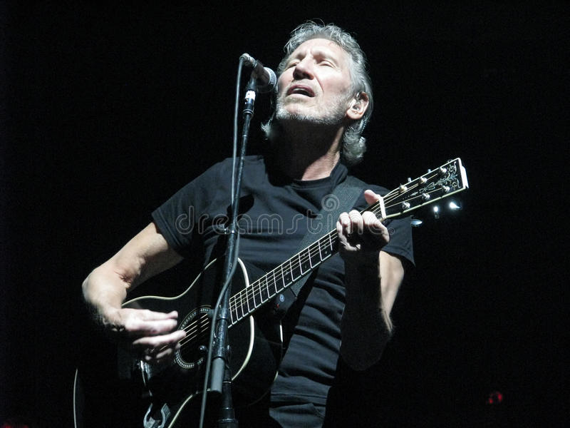 Roger Waters (Former member of Pink Floyd). Has been performing The Wall tour to critical acclaim world wide. The Wall is one of the most ambitious and complex royalty free stock photos