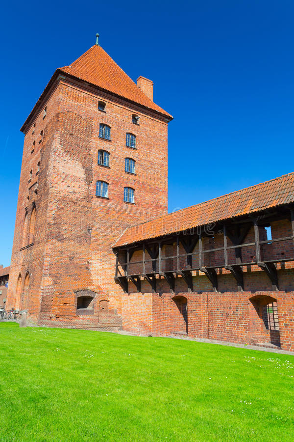 The Wall And Towers Of Malbork Castle Stock Images