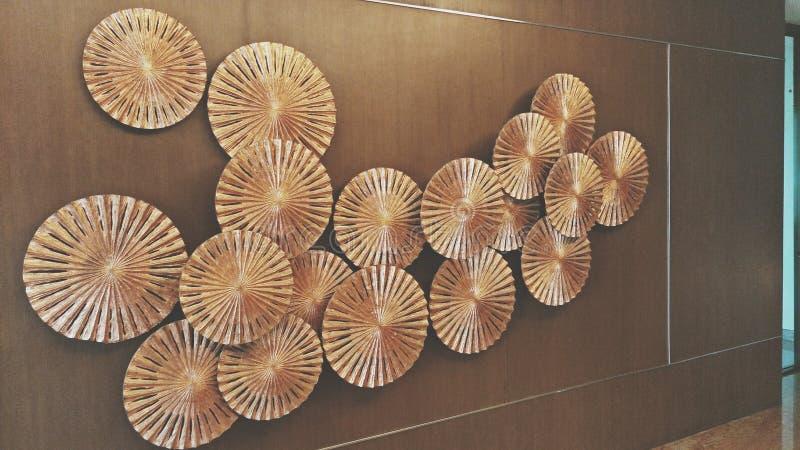 Wall Umbrella decor. Wall decor by multi umbrella look beautiful stock image