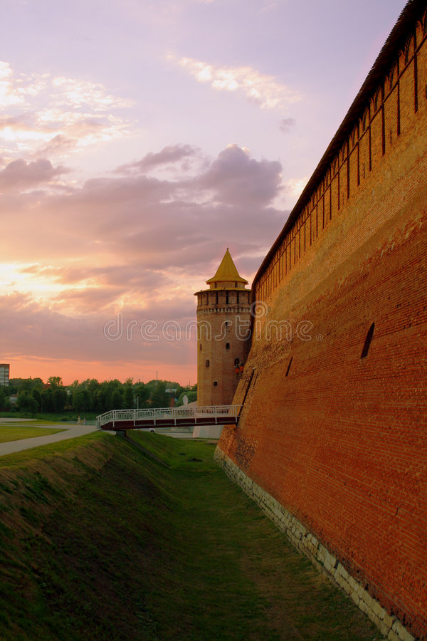 Wall und watch tower stock image