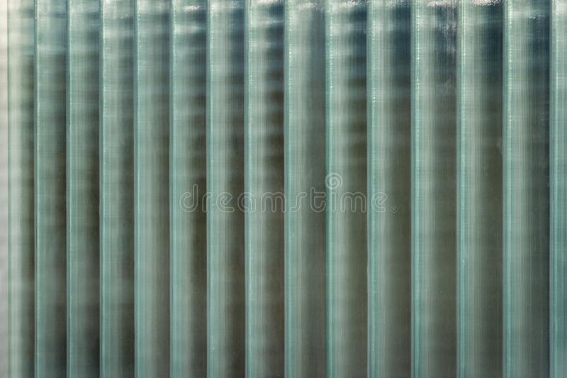Wall of vertical glass blocks royalty free stock photo