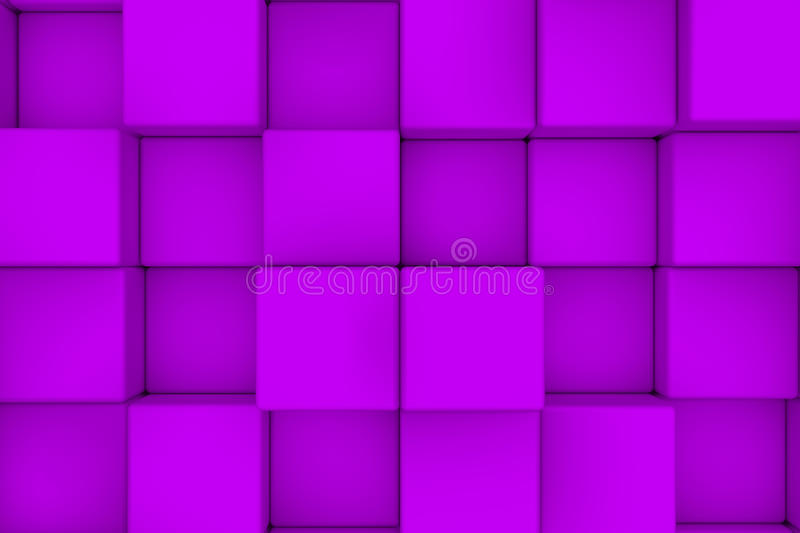 Wall of violet cubes royalty free illustration
