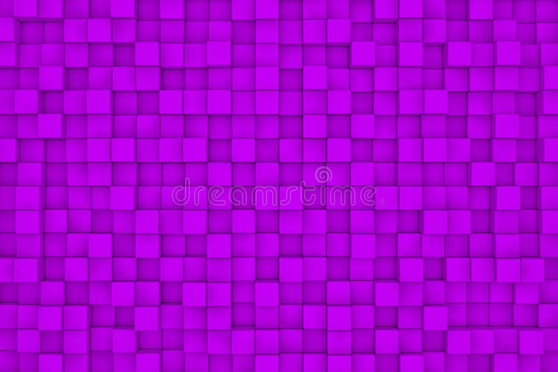 Wall of violet cubes vector illustration