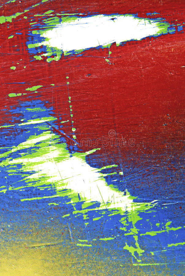 Wall with weathered colorful paint pattern backgro royalty free stock photos