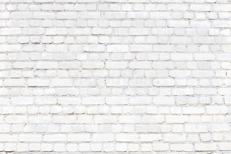 Wall of white brick. The background image texture. stock photography