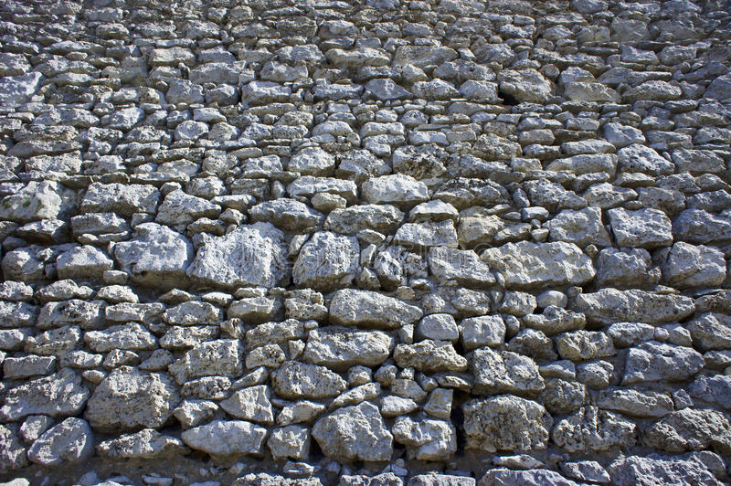 Wall of White rocks in Jura. Poland royalty free stock photography