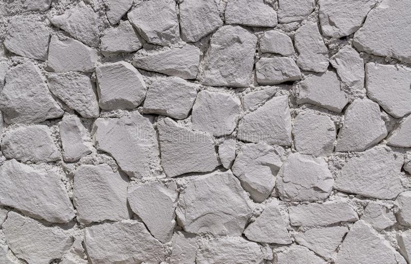 Wall of white stones royalty free stock photo