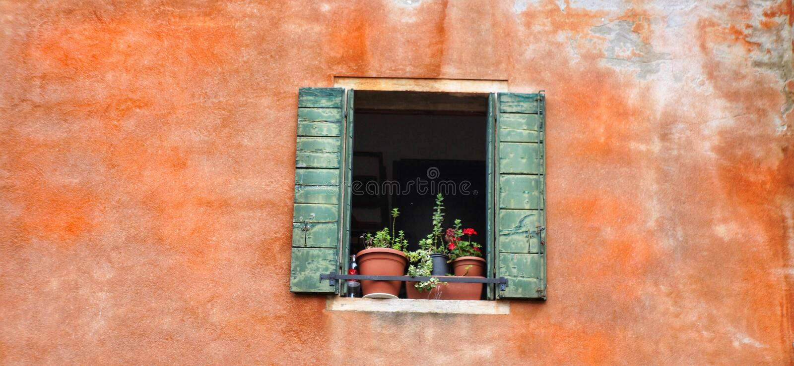 Wall, Window, Brick, Facade stock photography