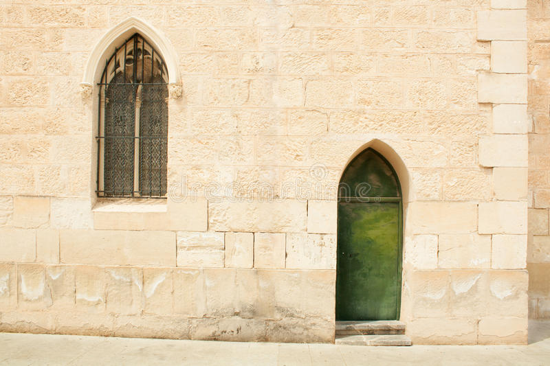 Download Wall With A Window And A Door Stock Image - Image: 25081735