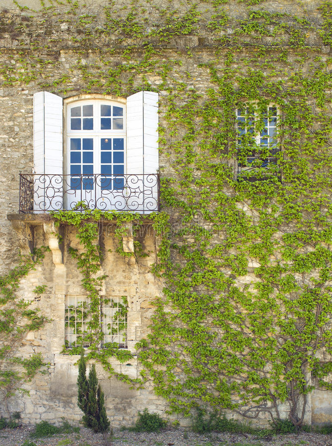 Download Wall With Window And Ivy, Arles France Stock Image - Image: 25003351