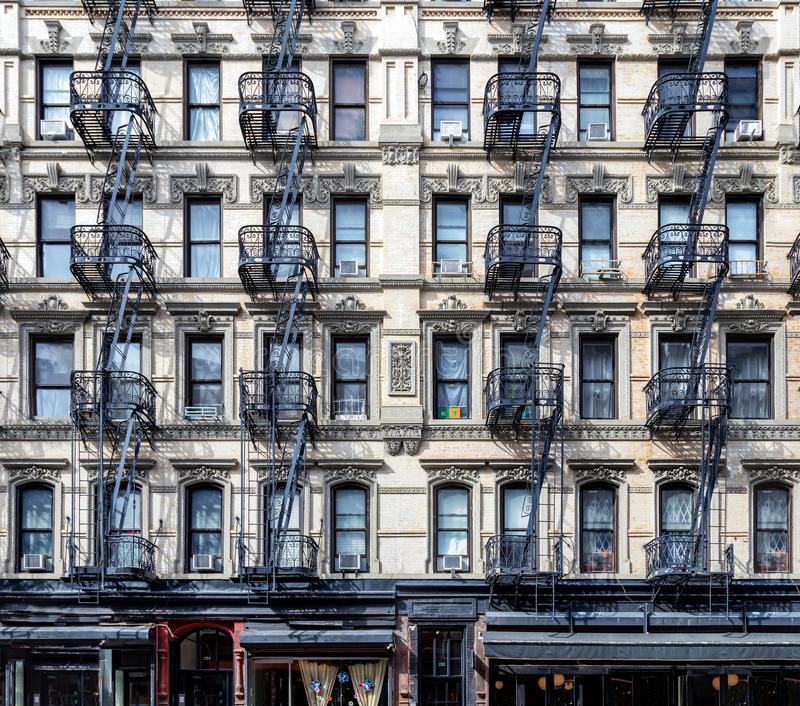 Old Apartment: NYC Apartment Building Stock Photo. Image Of Escape