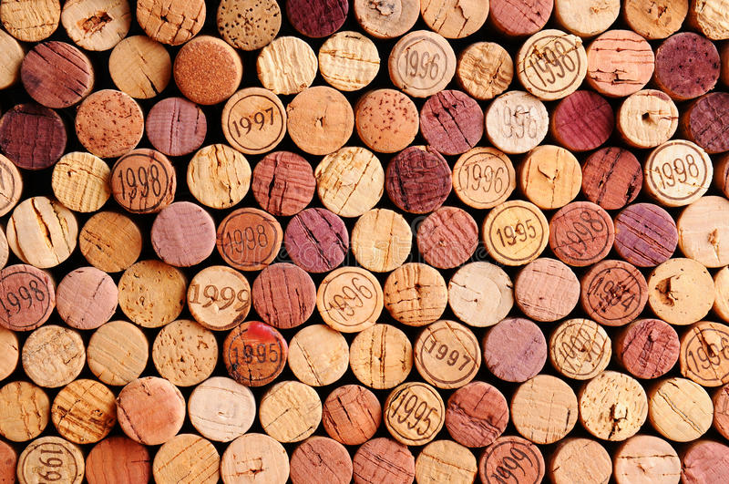 Wall of Wine Corks royalty free stock images