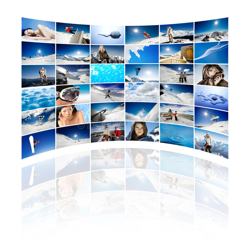 Wall of winter stock photography
