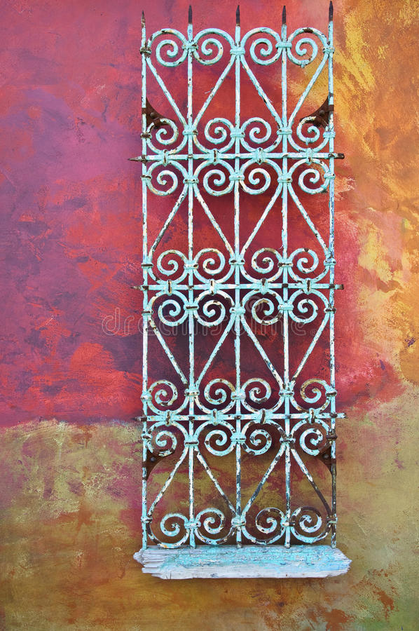 Free Wall With Rusty Metal Decoration Royalty Free Stock Photo - 15416295