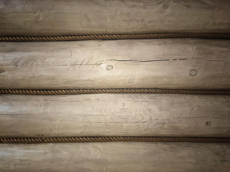The wall of a wooden frame, painted white. Decor and interior design of the room royalty free stock photo