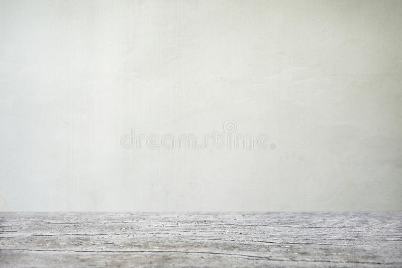 Wall of wooden table in front of abstract blurred background stock photos
