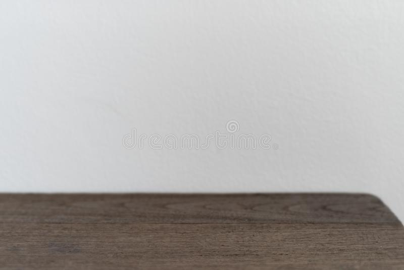 Wall of wooden table in front of background royalty free stock photos