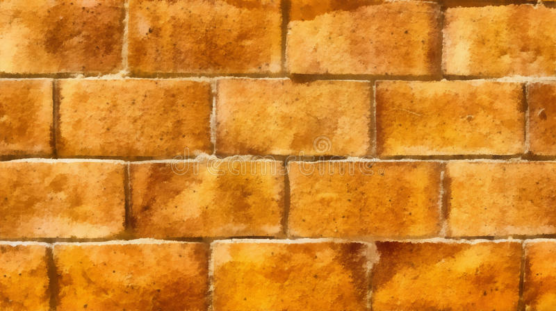 Download Wall Of Yellow Bricks Background Drawing Stock Illustration