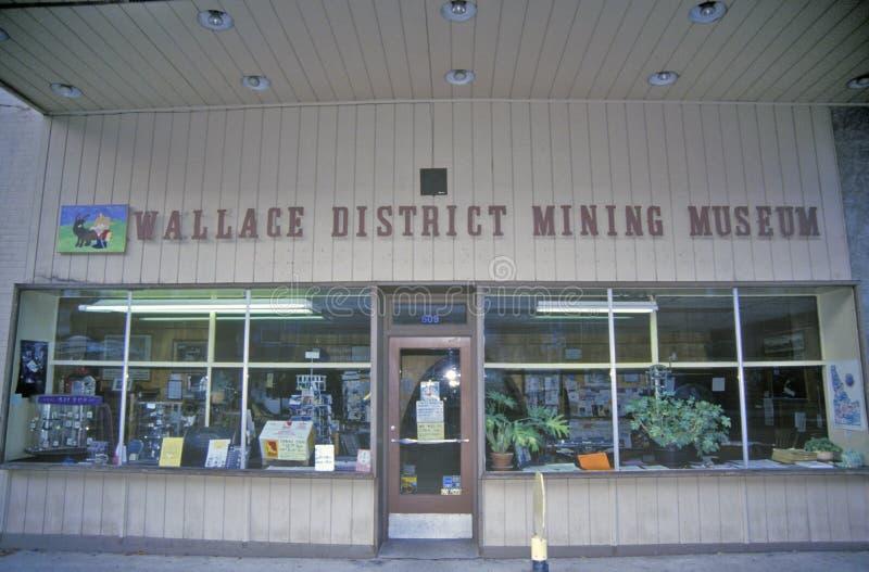 Wallace District Mining Museum, Wallace, Idaho foto de archivo