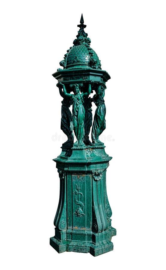 Wallace Jawna Pije fontanna w Paryskim Francja zdjęcia stock