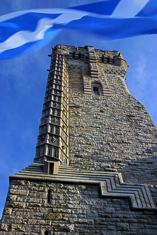 Wallace monument stock photo