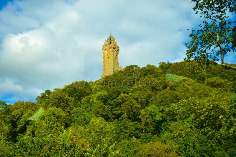 Wallace Monument nacional ou Wallace Monument, um suplente da torre fotografia de stock royalty free