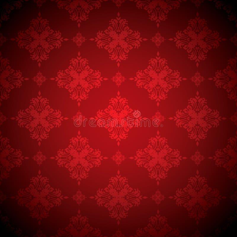 Wallaper rouge chaud illustration de vecteur