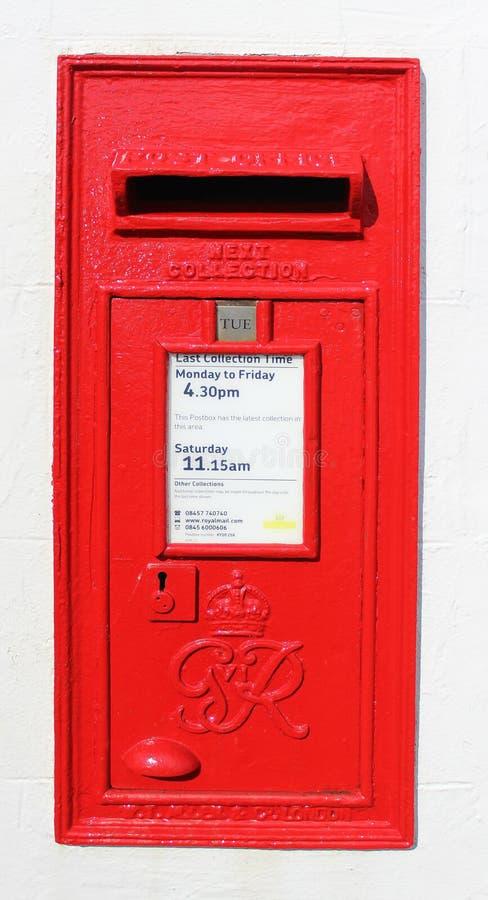 Wallbox vermelho de Royal Mail George VI imagem de stock