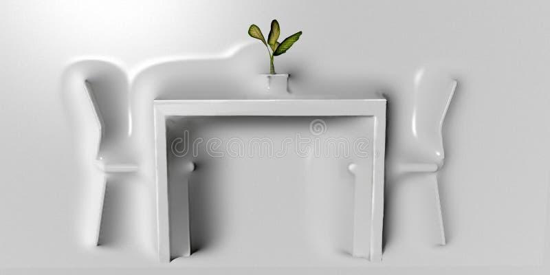 Walldesign для dinning комнаты стоковое изображение rf