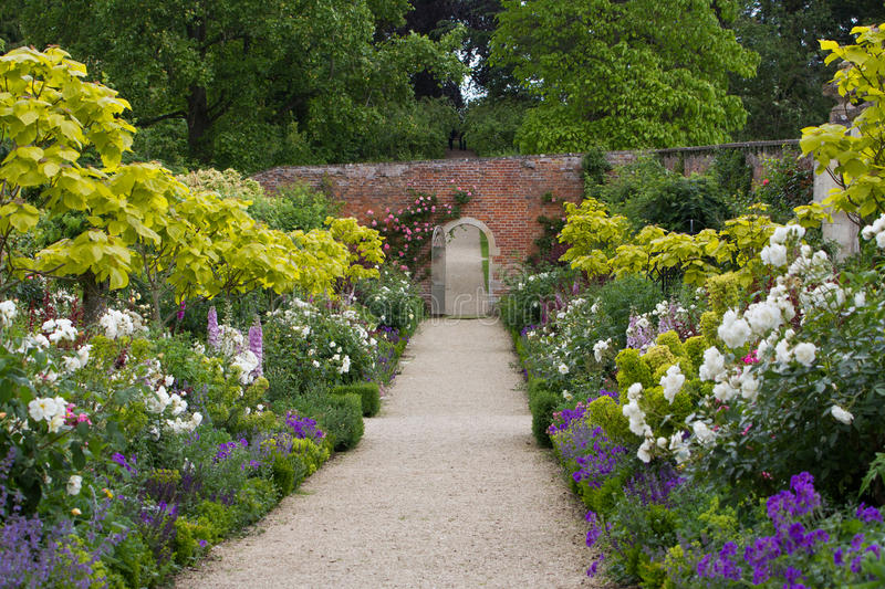 The Walled Garden at Buscot Park House in Oxfordshire. UK royalty free stock photo