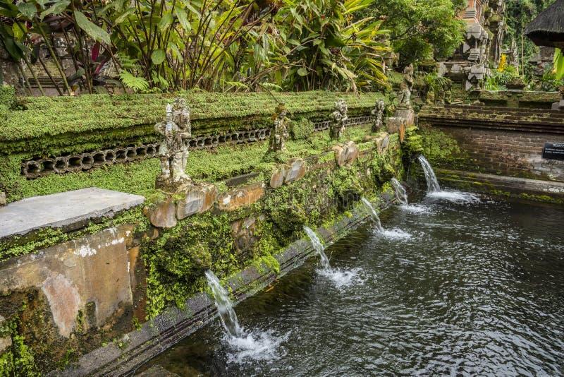 Walled que banha a seção no templo de Gunung Kawi Sebatu, Ubud, Bali, Indonésia fotografia de stock royalty free