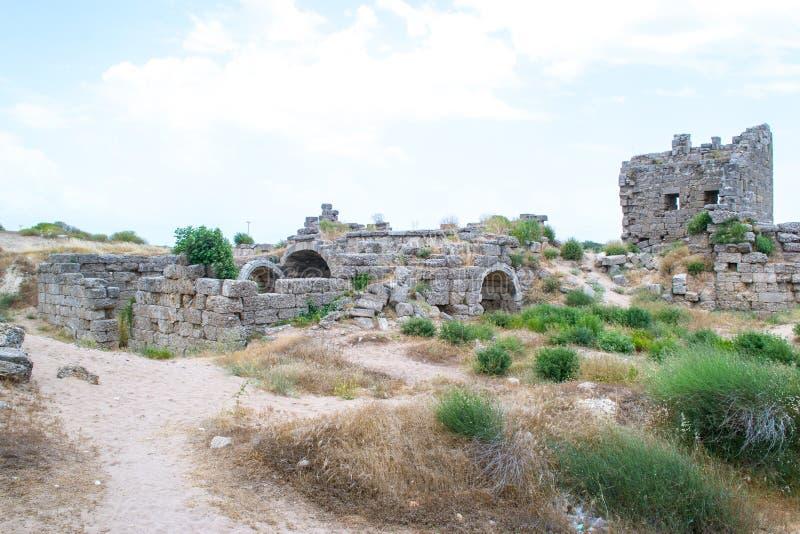 walled stad kalkon Sidostad royaltyfri foto