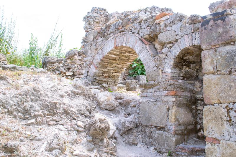walled stad kalkon Sidostad royaltyfria foton