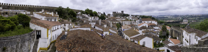 Walled stad, Portugal royaltyfri bild