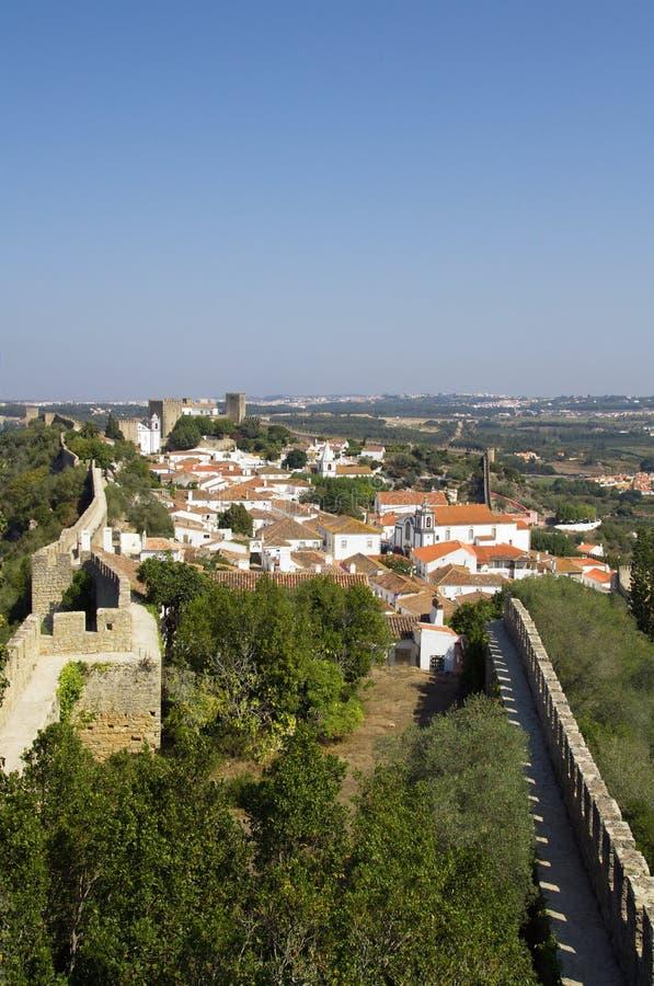 Walled town, Óbidos royalty free stock photo