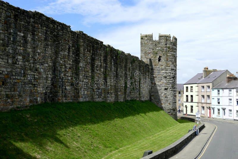 walled town arkivbild