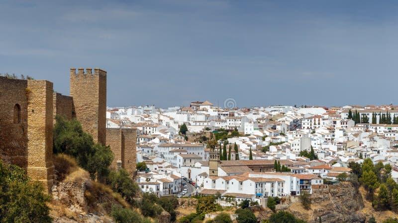 Wallen van de stad Ronda stock foto