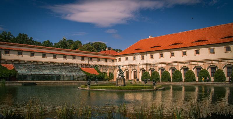 Wallenstein Palace Garden in Prague stock photo