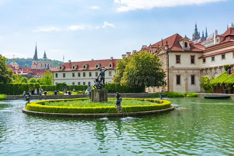 Wallenstein Palace and gardens in Mala Strana, Prague, Czech Republic royalty free stock photography
