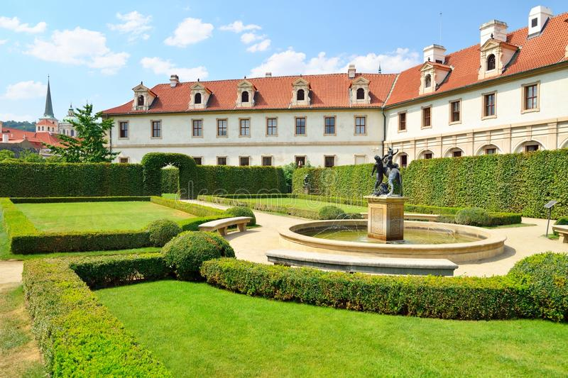 Wallenstein Palace gardens in Prague, summer stock images