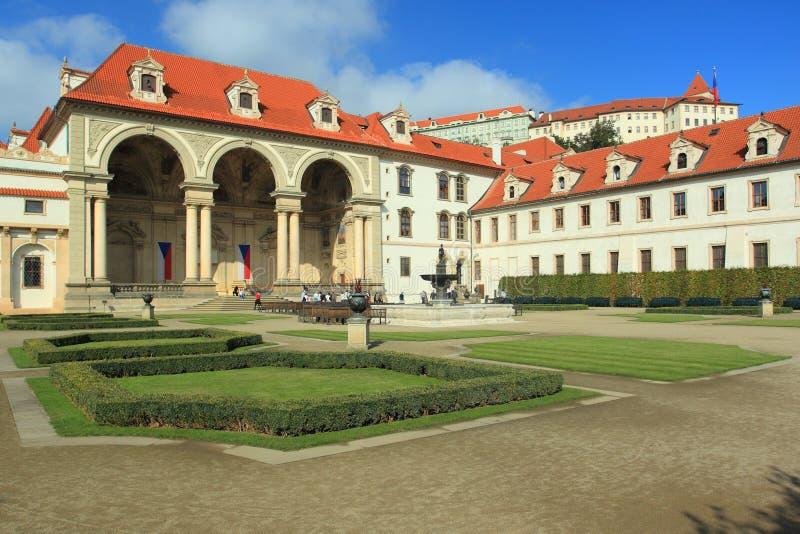Wallenstein Palace in Prague stock photos