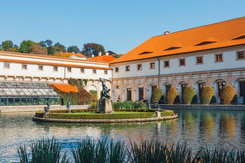 Wallensteinpaleis in Praag, Tsjechische Republiek royalty-vrije stock afbeelding
