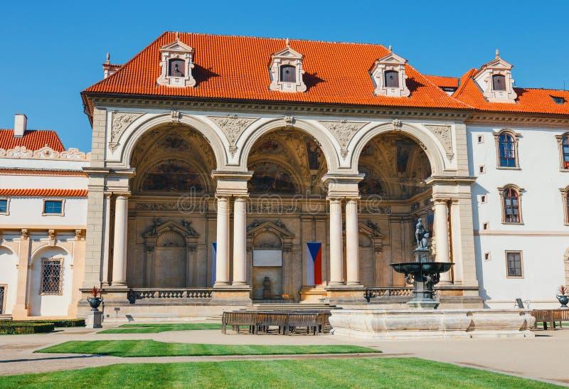 Wallensteintuin in Tsjechisch Praag, stock afbeeldingen