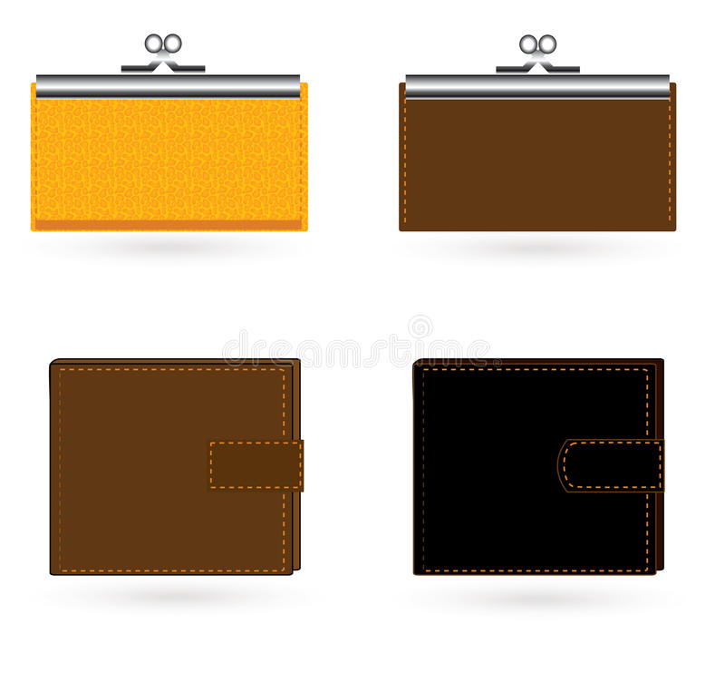Download Wallet stock vector. Image of compartment, purse, fortune - 14495059