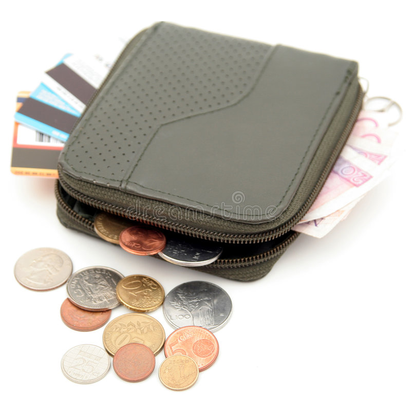 Wallet. Isolated royalty free stock photo