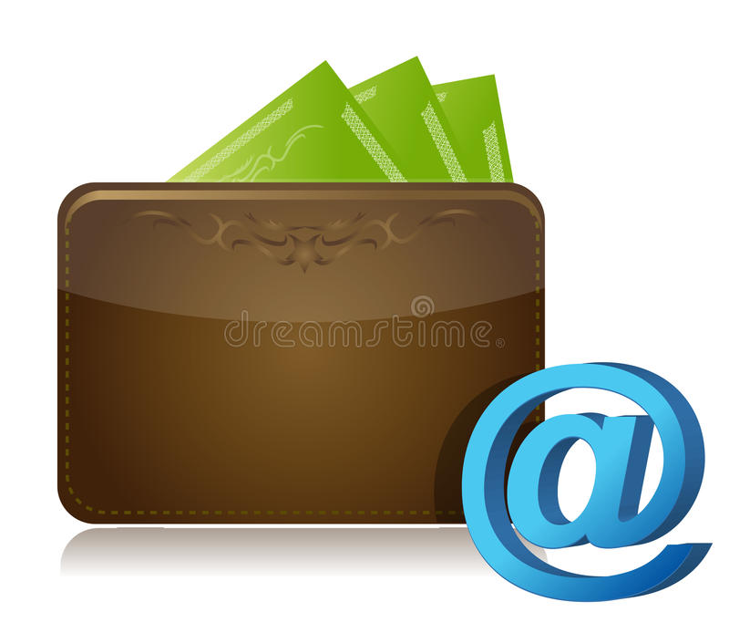 Wallet And Att Sign Royalty Free Stock Images