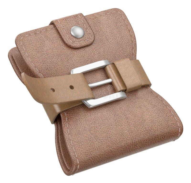 Download Wallet with belt stock illustration. Image of thrift - 23185924